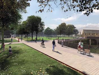 perspective du projet de réaménagement du château promenade