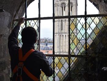Réparation des vitraux de la tour-lanterne Saint-Étienne