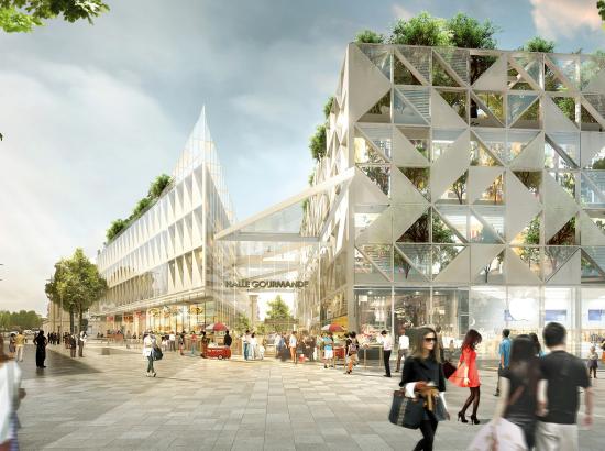 vue du projet d'aménagement de l'ancien parking place de la Réublique